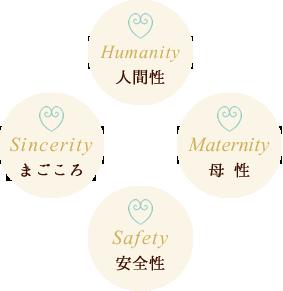 人間性・母性・安全性・まごころ