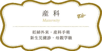 産科:妊婦外来・産科手術・新生児健診・母親学級